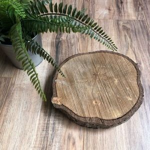 Other - Wood Tree Birch Round Candle Tray